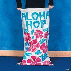 2 Aloha Potato Sacks Luau Party Decoration Favors Games   eBay
