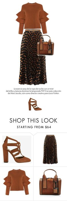 """Brown"" by anja-173 on Polyvore featuring Aquazzura, Gucci, Pierre Hardy and Louis Vuitton"