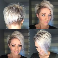 50 Best Trendy Short Hairstyles for Fine Hair - Hair Adviser - - Looking for new ways to up your hair volume? Check out these ultimate volume-boosting short hairstyles for fine hair! Short Hair Undercut, Short Hair Cuts, Short Hair Styles, Nape Undercut, Short Pixie, Pixie Bob, Short Hairstyles Fine, Pixie Hairstyles, Pixie Haircuts