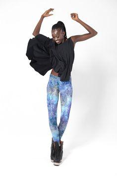 SOLD! Fairy Paint Blue Leggings › Black Milk Clothing