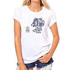 Digimon Garurumon Wolf Gabumon Two XL Mujer T-Shirt #camiseta #friki #moda #regalo