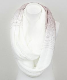 Take a look at this White & Rose Peppered Infinity Scarf by Leto Collection on #zulily today!