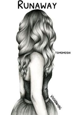 Drawing hair is my forte. This black and white sketch drawing of a girl with long wavy hair is one of my popular hair drawings. If you are (Cool Art Drawings) Amazing Drawings, Beautiful Drawings, Amazing Art, Cute Drawings Of Girls, Sketches Of Girls, Hipster Drawings, Beautiful Beautiful, Sketches Of Couples, Cute People Drawings