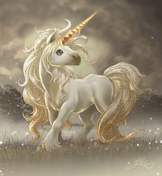 Unicorns are pretty! Are there fairy tales feature unicorns? Or are they just mythological/fantastic creatures? Unicorn And Fairies, Unicorn Fantasy, Unicorns And Mermaids, Unicorn Art, Magical Unicorn, Cute Unicorn, Rainbow Unicorn, Fantasy Art, Chibi Unicorn