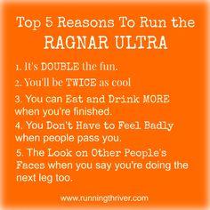 Reasons to run a Ragnar Ultra #RagnarADK #Ultra