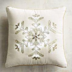 Light-Up Snowflake Pillow