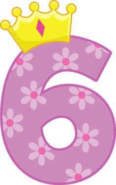Princess Number 6 Birthday Minus - Say Hello! 6th Birthday Girls, Birthday Wishes For Kids, Birthday Clips, Happy 6th Birthday, Birthday Wishes Messages, Barbie Birthday, Birthday Images, Happy Birthday Vintage, Diy And Crafts