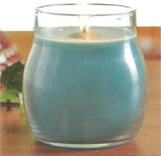 "Misty Sky Deluxe Candle 14.5 oz.   Color: Shale Blue  Our Deluxe Candles offer the essence of layered fragrances in a variety of decorative colors.  Each unique candle contains 14.5 oz of a high quality soy blended wax. 4"" x 5"", approximate burn time 80 hours. Hand crafted in the USA."