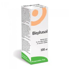 Blephasol- A gentle cleansing solution that removes the crusting and debris from sensitive eyelids associated with blepharitis and dry eyes. Preservative and perfume-free.