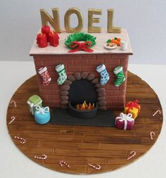 Christmas Fireplace - Novelty Lolly Cakes