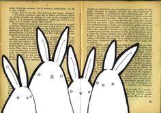 book bunnies by ~FrealaF on deviantART