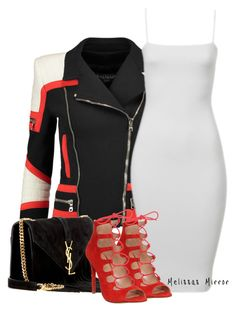 """'STATEMENTS' by Melissa's Mirror"" by melissas-mirror ❤ liked on Polyvore featuring Balmain, Office and Yves Saint Laurent"