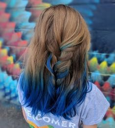 blue hair 25 Examples of Blue Ombre Hair Colors Trending in 2019 Hot Hair Colors, Ombre Hair Color, Cool Hair Color, Brown Hair Colors, Blue Colors, Blue Brown Hair, Light Brown Hair, Light Hair, Hair With Blue Tips