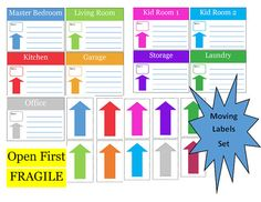 Moving Labels Printable Includes Moving Timeline and Pages to Organize your move!