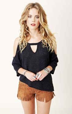 $77 Blue Life V-Neck Trendsetter Top