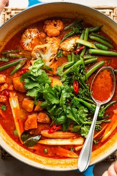 Vegan Thai red curry is a veggie take on this popular crowd pleaser! It's easy to make and delicious, naturally gluten-free too. Curry Recipes, Vegan Recipes, Thai Vegetarian Recipes, Vegan Curry, Thai Vegan, Red Thai Curry Vegetarian, Thai Vegetable Curry, Vegan Food, Lazy Cat Kitchen