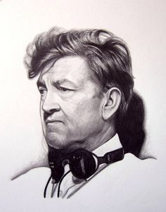 The pencil portrait shown above is not available for purchase. This listing is an example of my drawing style.  david lynch