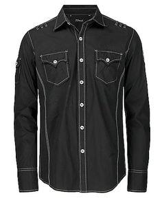 7 Diamonds Goodbye Hollywood Button Front Shirt