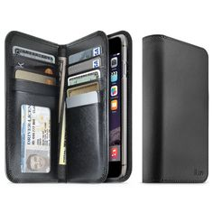 """iLuv Jstyle iPhone 6 Plus (5.5"""") Case - Premium Leather Wallet Case with Saffiano Finish and Pockets to Store Credit Cards, ID and Cash for Apple iPhone 6 Plus 5.5"""" - GSM, CDMA, AT&T, Verizon, T-Mobile, Sprint:Amazon:Cell Phones & Accessories"""