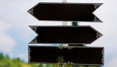Chalkboard cut out arrow signs