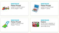 *High-Value* Fisher-Price and Hasbro Toy and Game Coupons