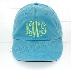 e3a9f8c8f94 Ladies Baseball Cap Intertwined Monogram Beach Hat by BeachBumUSA Brass  Buckle