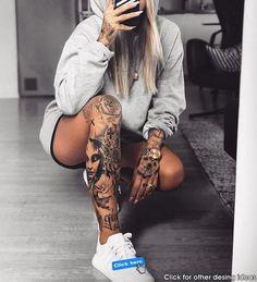 Badass Sleeve Tattoos, Space Tattoo Sleeve, Mermaid Sleeve Tattoos, Unique Half Sleeve Tattoos, Animal Sleeve Tattoo, Tribal Sleeve Tattoos, Forearm Sleeve Tattoos, Girls With Sleeve Tattoos, Tattoo Girls