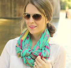 Touch of Turquoise- stella and dot scarf Grace, can you show me how to tie a scarf like this.  So pretty!