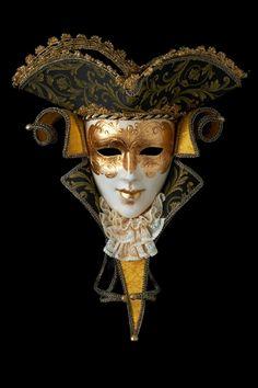 Casanova with Lace | tradition venetian papier mache mask for sale