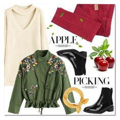 Harvest Time: Apple Picking by oshint on Polyvore featuring polyvore fashion style See by Chloé clothing