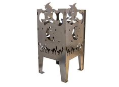 Portable with easy assembly, the whimsical solid steel Curonian Witch Fire Basket will allow you to add some fire to just about any outdoor gathering. Wood Fire Pit, Wood Burning Fire Pit, Fire Pits, Fire Pit Walmart, Fire Pit Wayfair, Outdoor Wood Burning Fireplace, Fire Basket, Party Places, Outdoor Fire