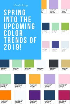 Pantone colour trends of spring 2019