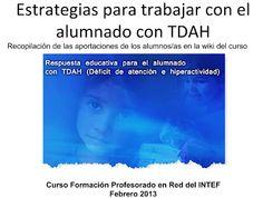 ACCESIBILIDAD E INCLUSIÓN: Estrategias para trabajar con el alumnado con TDAH