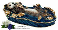 Trinket Box: Sea Otter on Water Box