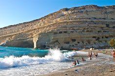 """Matala"", one of the Blue Flag Beaches Crete"