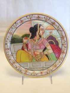 Marble - Decorative Rajasthani Plate Painting
