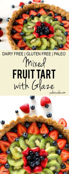 A mixed fruit tart that's gluten free, dairy free, and completely paleo! A fresh, bright, perfect summertime dessert without the guilt. | PaleoScaleo.com