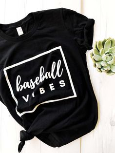 Baseball Vibes T-shirt This t-shirt is Made To Order, one by one printed so we can control the quality. Baseball Mom Shirts, Baseball Sister, Cute Shirts, Uk Baseball, Baseball Cleats, Baseball Season, Baseball Tickets, Baseball Field, Baseball Pants