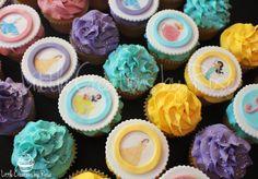 #Disney #Princess #Cupcakes. Topped with #Fondant #EdiblePrints. All cupcakes hand made by Little Creations By Rose. #Cinderella #Belle #PrincessJasmine #Ariel #SleepingBeauty #SnowWhite www.facebook.com/LCByRose