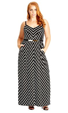 City Chic Weekend Stripe Maxi Dress - Women's Plus Size Fashion City Chic - City…