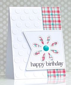 Card by Michelle Leone (062316) [Frantic Stamper Stitched Daisy Pair]