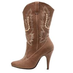 Adult Cowgirl Boots Brown Size 7, Size: 7.0