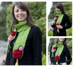 Beanie Pattern Free, Free Pattern, Knitting Books, Free Knitting, Easy Scarf Knitting Patterns, Chunky Knit Scarves, Crochet Necklace, Winter, Fun