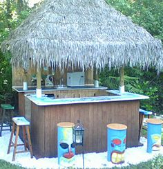 Calypso tiki bar would love to do something like this to for Build your own beach house