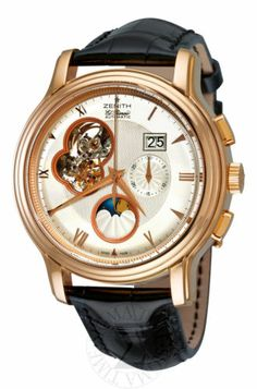 Zenith Mens Chronomaster Open Grande Date Moonphase Watch 18.1260.4047/01.C505