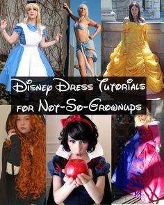 Happily Grim: Disney Dress Tutorials for Not-So-Grown-Ups