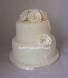 small wedding cake White roses small wedding cake Bedford
