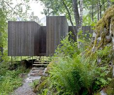 Located in Burtigard, Gudbrandsjuvet, Norway and constructed by Jensen and Skoven Architects - Juvet Landscape Hotel