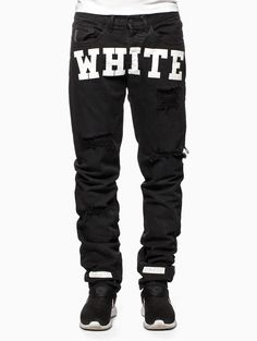 Carry over canvas pants from the S/S2015 Off-White c/o Virgil Abloh collection in black.