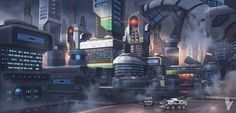 What does your vision of a futuristic city look like?  http://digitalart.io/future-city-alex-shatohin/